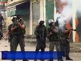 Enfrentamientos entre palestinos e israelíes en los territorios