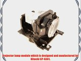 Hitachi CP-X301 projector lamp replacement bulb with housing - high quality replacement lamp