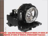 DT00873 - Lamp With Housing For Hitachi CP-WX625 CP-SX635 CP-WUX645N CP-X809 CP-WUX645 CPWX625LAMP