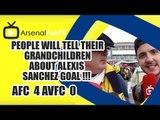 People Will Tell Their Grandchildren About Alexis Sanchez Goal !!!  | Arsenal 4 Villa 0