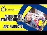 Alexis Never Stopped Running!! | Arsenal 4 Aston Villa 0 | FA Cup Final
