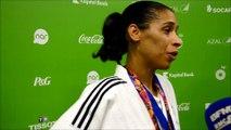 Réactions d'Annabelle Euranie après sa médaille d'argent aux championnats d'Europe à Baku