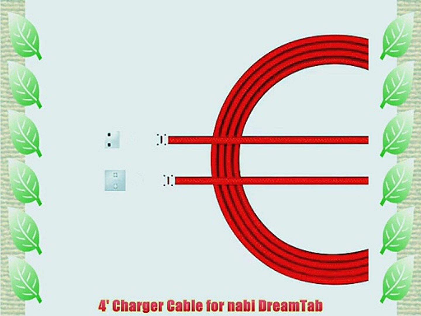 4' Charger Cable for nabi DreamTab