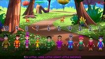 Ten Little Indians- 3D Animation - English Nursery Rhymes - Nursery Rhymes - Kids Rhymes - for children with Lyrics