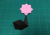 How to make an origami paper flower ( fleur / flor ) - 1