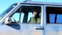 Retards Driving Jeep on Frozen Lake