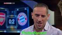 Franck Ribery will  für immer in Bayern bleiben - Standing Ovations -CL Arsenal vs FC Bayern