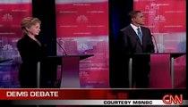 Obama Edwards  Democrats say Hillary Clinton Flip Flops
