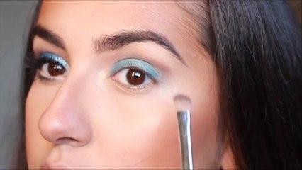 Blue Glitter Mermaid Inspired Makeup!