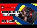 Santi Cazorla's Been On Fire!!! - Arsenal 5 Aston Villa 0