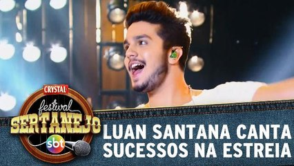 Luan Santana canta na estreia do programa