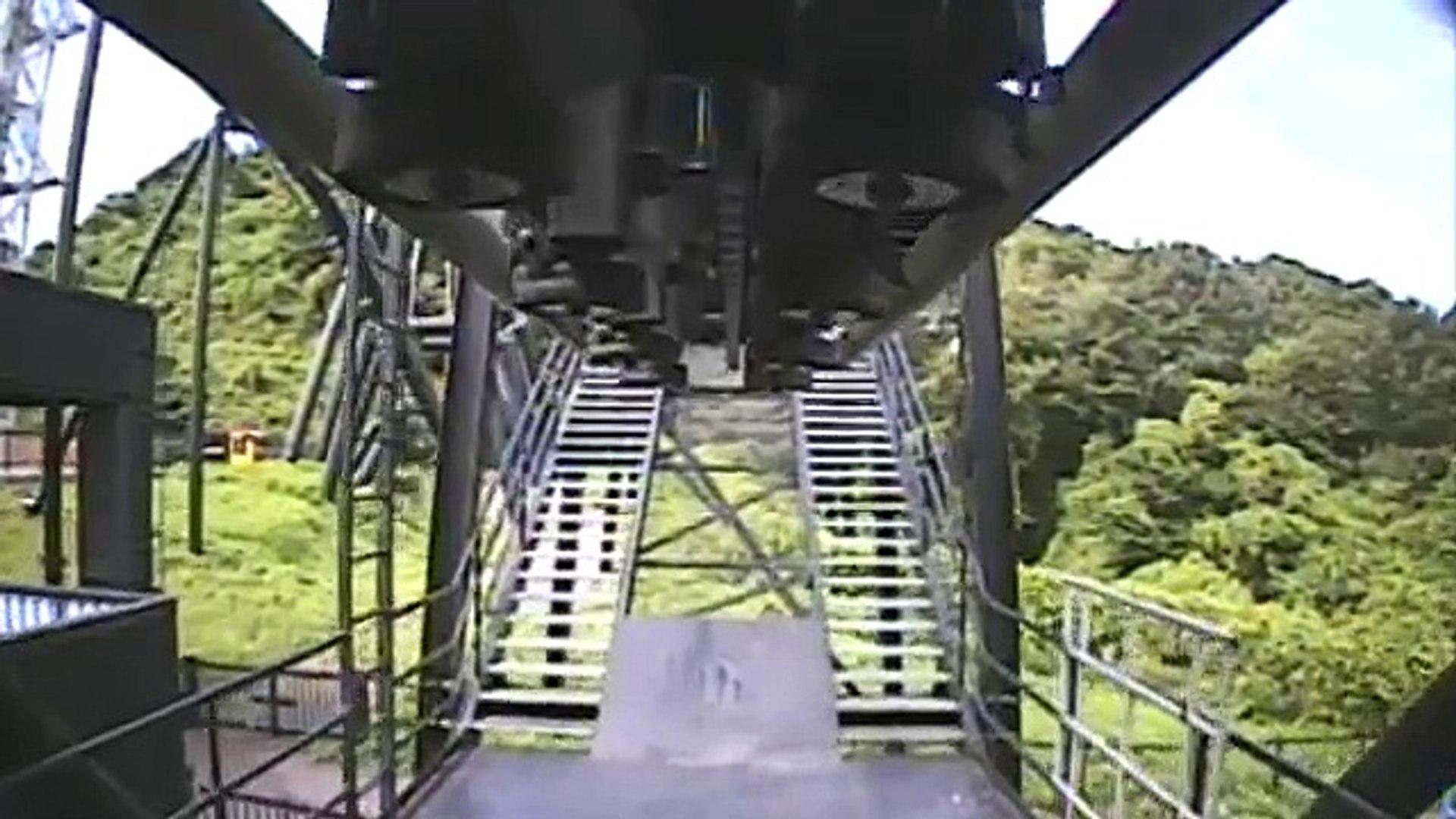 Diavlo Japanese Batman B&M Inverted Roller Coaster Front Seat POV Onride Central Park Japan
