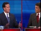 Rick Santorum Rick Perry Border Battle