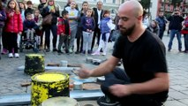 Street Drums Musician plays Dance Music Unplugged
