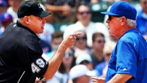 Umpire Charges at Jon Lester on the Mound