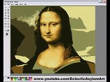 Paint Mona Lisa by Micorsoft Windows Paint Panel