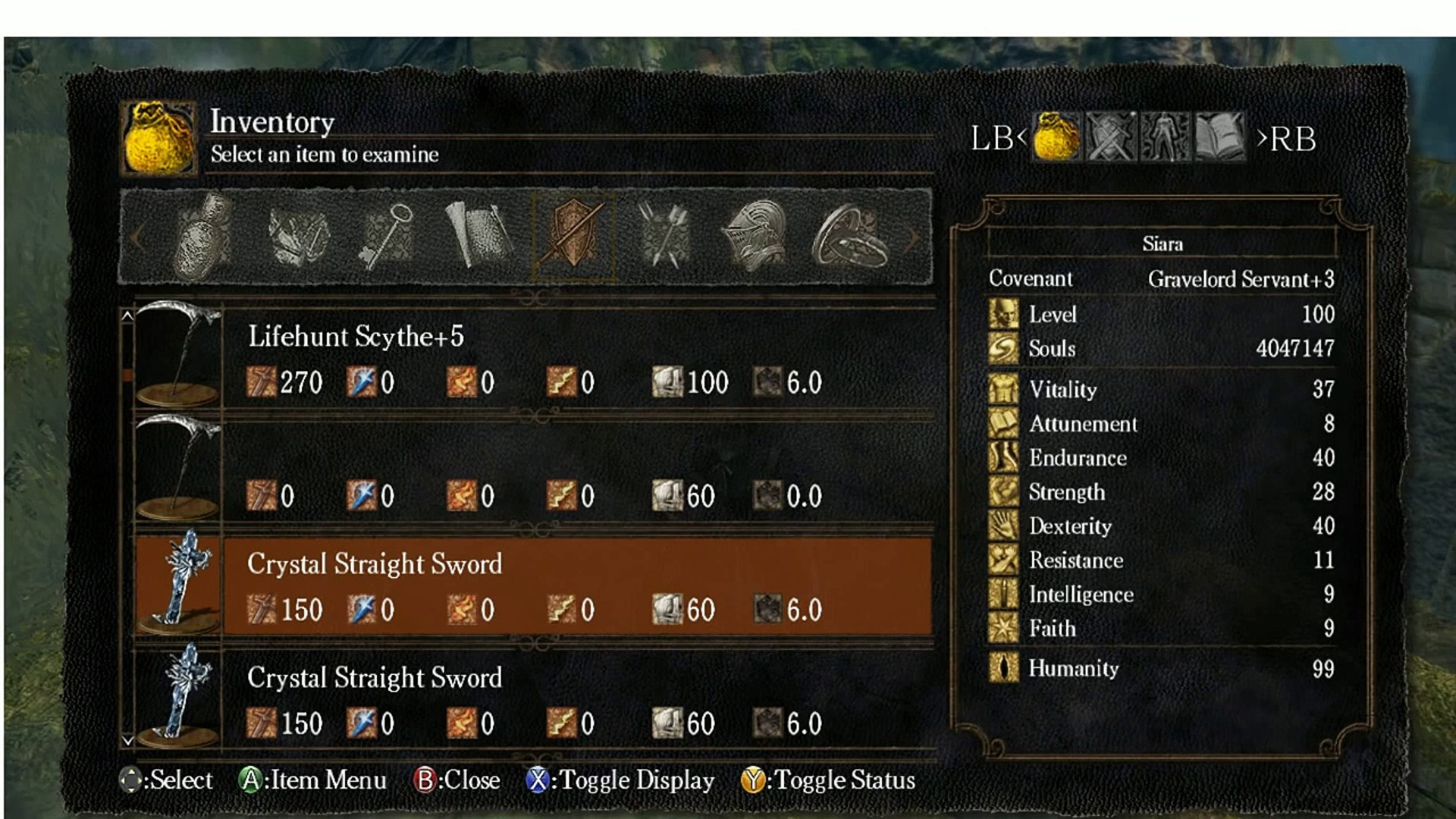 Dark Souls How to get Weapons and Armors with Cheat Engine