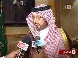 الامير سعود بن  عبد المحسن  يستقبل عبد الله الخلف الفائز بمسابقة الملك عبد العزيز لحفظ القران الكريم