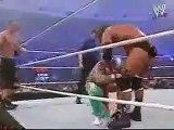 Randy Orton, Rey Misterio & Angle VS Triple H & John Cena
