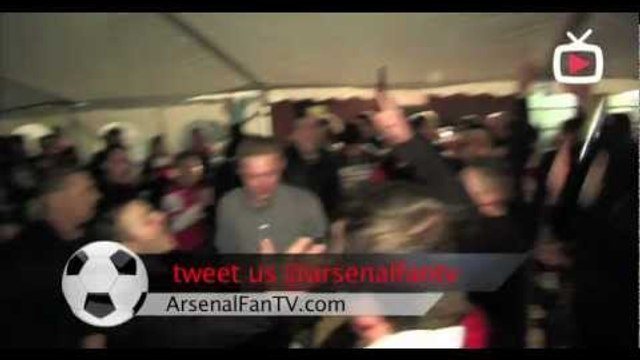 Arsenal fans singing at Villa Park - We won the league at shite hart lane