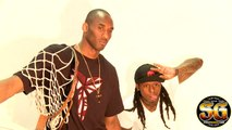 Koby Bryant & Lil Wayne behind the scenes with Larry O'Bryant championship trophy