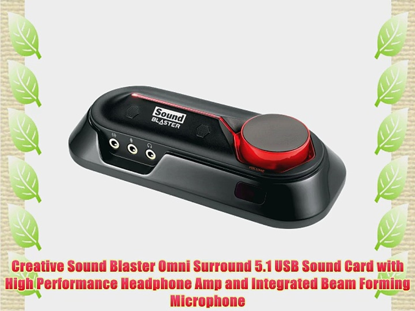 Creative Sound Blaster Omni Surround 5 1 USB Sound Card with High  Performance Headphone Amp