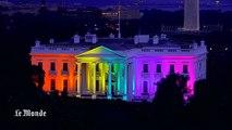 La Maison Blanche aux couleurs du drapeau arc-en-ciel