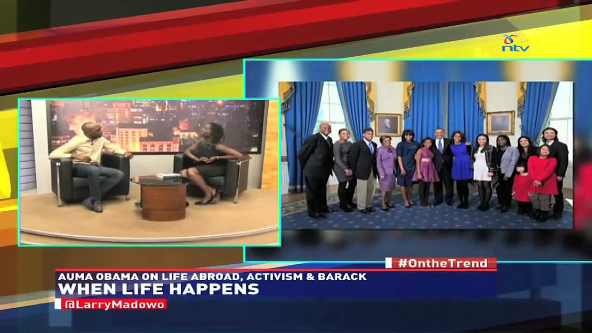 #theTrend; Auma Obama on life abroad, activism and Barack