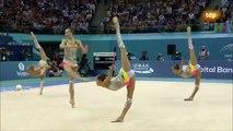 Rusia. Final 10 mazas. Medalla de plata. Baku 2014.