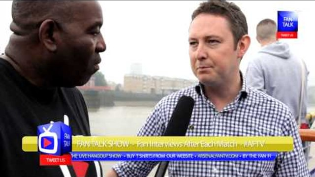 Arsenal FC 3 Fulham 1 - BSM Boat Trip - David O'Leary Talks To Robbie About BSM & Arsenal