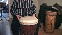 How To Play West African Drums : Playing Bass Sounds on Djembe African Drums