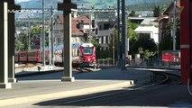 Arosabahn Arosa Bahn der RhB In Chur,Salonwagen der RhB Alpine Classic Pullman Express