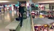 Idiot jumped to a pool on 1st level from 2nd level in West Edmonton Mall