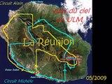 Survol de la Réunion, Piton de la Fournaide, Mafate, Piton des neiges ....