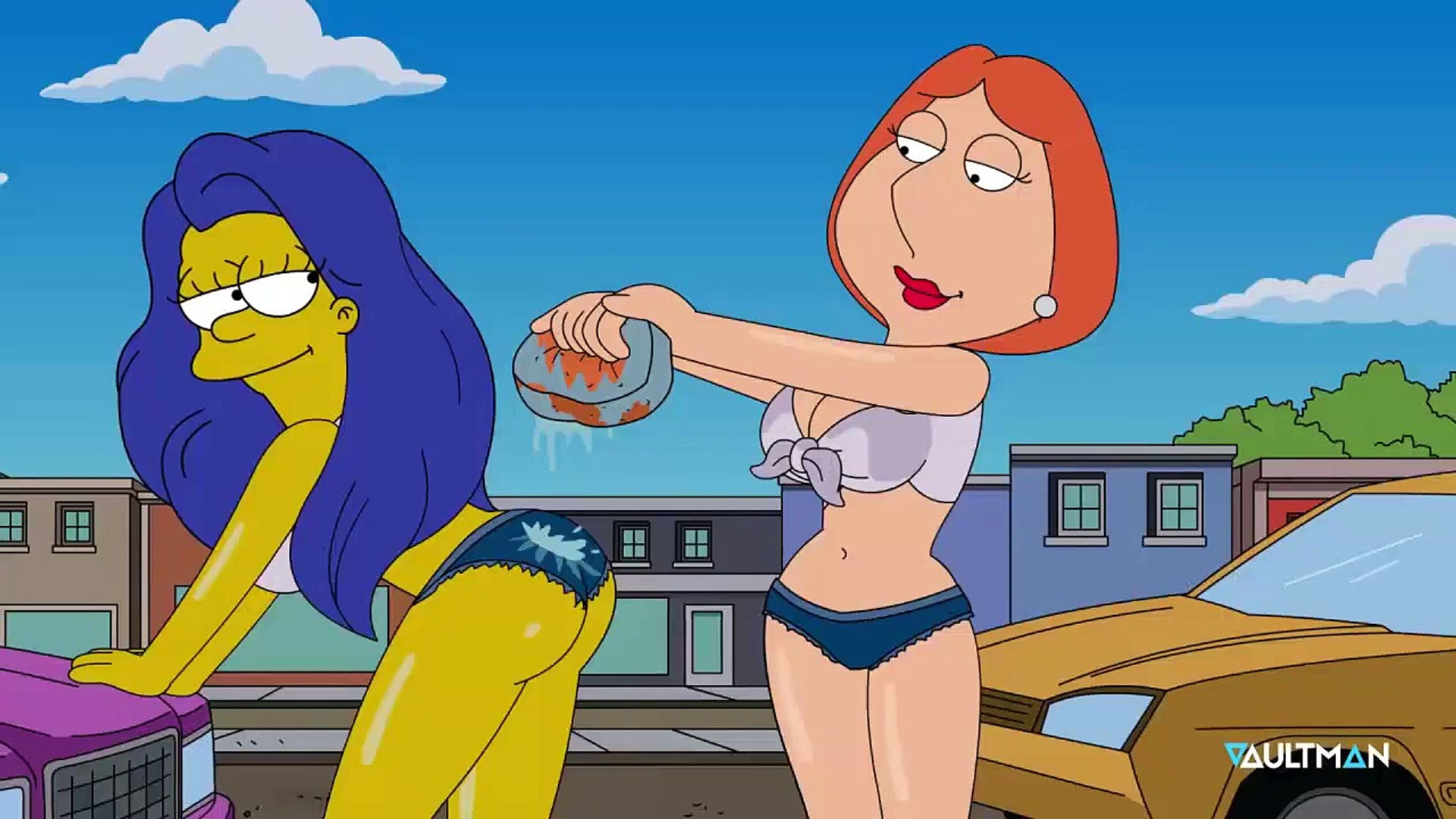 Remake Carwash Scene Lois Griffin Marge Simpson Video Dailymotion