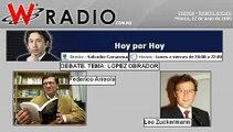 DEBATE Federico Arreola vs Leo Zuckermann TEMA Lopez Obrador WRADIO