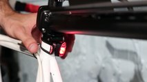 Bicycle Waterproof Silicone Light Flashing Light Lamp Head Rear Light Flashlight with Double LED