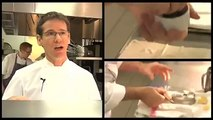 Two Michelin starred chef Andrew Fairlie,cooks cep tart and Halibut with snails