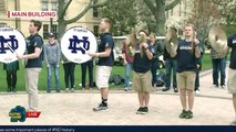 Notre Dame Drum Line Performs Live on Notre Dame Day 2015