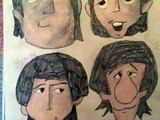 How to Draw the Cartoon Beatles- John, Paul, George & Ringo