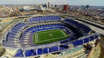 Stadium Drone View - Baltimore Stadiums Football and Baseball - Aerial Views by GoPro