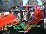 Rally Dakar Argentina Chile 2011- Robby Gordon - Saltando la rampa .