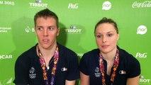 Gaëtan Mittelheisser et Audrey Fontaine - Médaille d'argent badminton double mixte