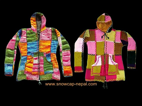 Nepalese Women Handknitted Woolen Jackets, Ponchos, Scarves, Hats, Gloves and Shoes