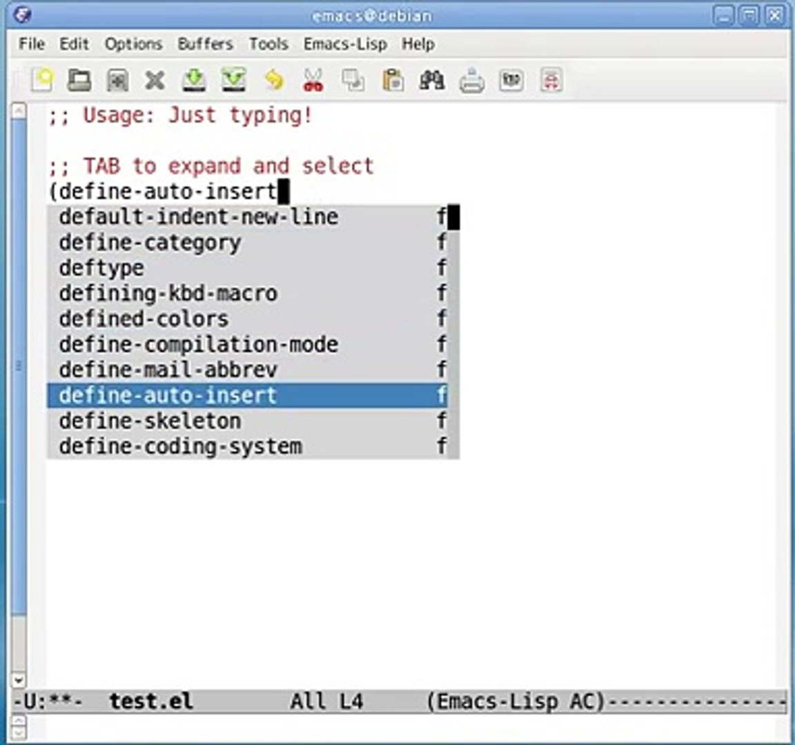 Auto Complete Mode for GNU Emacs