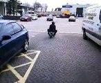 mini moto motorbike bike riding knee slideing superstig ghost rider