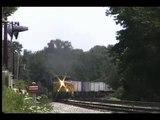 CSX Trailer Train at MonteVideo RD AC60 K5lar24 horn