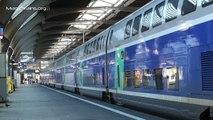 Zug der SNCF-Ausfahrt TGV Duplex in Zürich HB