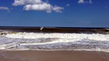 Surfers in Bay Head NJ after 08-12-2014 Storm Huge Waves Surfing Surf Hurricane Style
