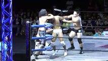 "Hiroshi Yamato, Masakatsu Funaki & Jiro ""Ikemen"" Kuroshio vs. AKIRA, Manabu Soya & Kumagoro (WRESTLE-1)"